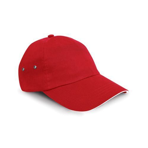 Printers Plush Cotton 5 Panel Cap [One Size] (red / white) (Art.-Nr. CA033549)