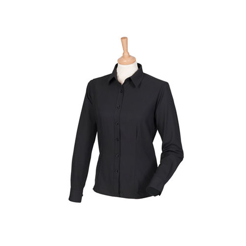 Ladies` Wicking Long Sleeve Shirt [M] (Black) (Art.-Nr. CA033671)