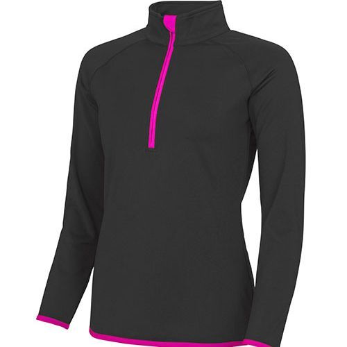 Girlie Cool 1/2 Zip Sweat [M] (Jet Black) (Art.-Nr. CA035951)
