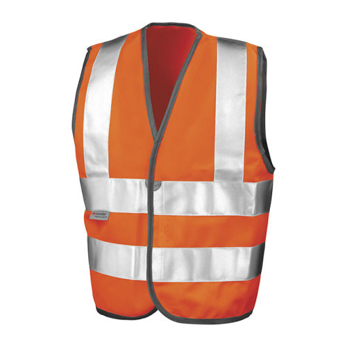 Junior Safety Hi-Viz Vest [M (7-9)] (fluorescent orange) (Art.-Nr. CA036141)