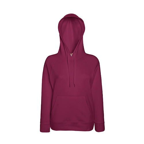 Ladies Lightweight Hooded Sweat [XS] (Burgundy) (Art.-Nr. CA036383)
