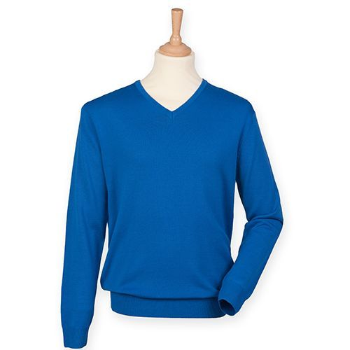 Men`s Lightweight V-Neck Jumper [4XL] (Royal) (Art.-Nr. CA039058)