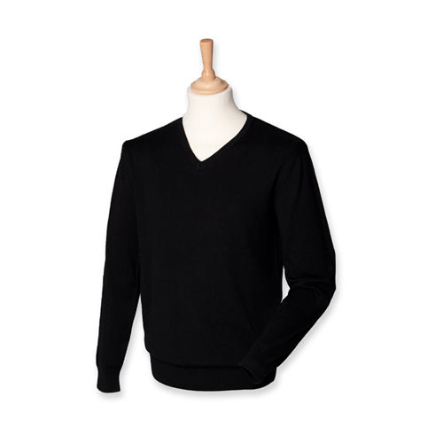Men`s Lightweight V-Neck Jumper [S] (Black) (Art.-Nr. CA040652)
