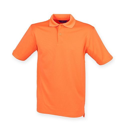 Men`s Coolplus Wicking Polo Shirt [L] (Bright Orange) (Art.-Nr. CA041350)