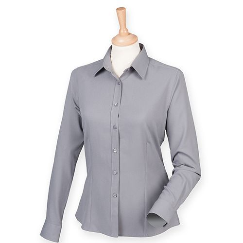 Ladies` Wicking Long Sleeve Shirt [3XL] (Slate Grey (Solid)) (Art.-Nr. CA043925)