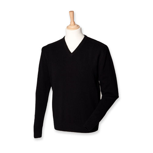 Lambswool V-Neck Jumper [M] (Black) (Art.-Nr. CA045330)