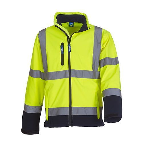 High Visibility 2 Bands & Braces Softshell Jacket [3XL] (Hi-Vis Yellow) (Art.-Nr. CA046096)