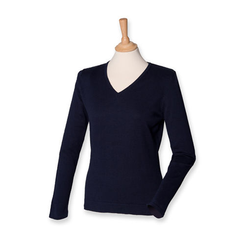 Ladies` Lightweight V Neck Jumper [XS] (Navy) (Art.-Nr. CA046534)