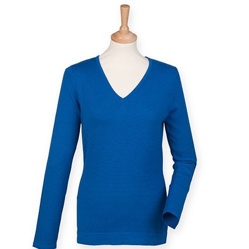 Ladies` Lightweight V Neck Jumper [XXS] (Royal) (Art.-Nr. CA046635)