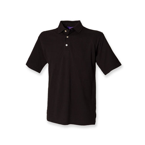Classic Cotton Piqué Polo Shirt [XL] (Black) (Art.-Nr. CA048398)