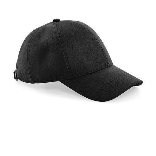 Faux Suede 6 Panel Cap [One Size] (black) (Art.-Nr. CA048440)