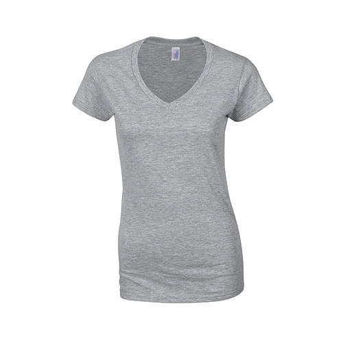 Softstyle® Ladies´ V-Neck T-Shirt [L] (Sport grey (heather)) (Art.-Nr. CA049967)