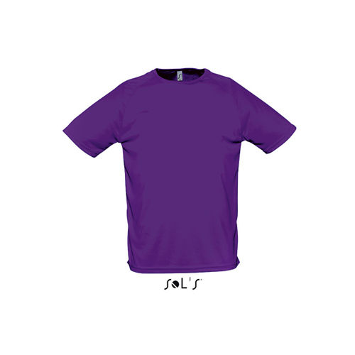 Mens Raglan Sleeves T Sporty [3XL] (dark Purple) (Art.-Nr. CA050024)