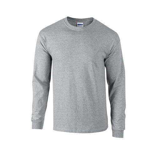 Ultra Cotton™ Long Sleeve T- Shirt [L] (Sport grey (heather)) (Art.-Nr. CA050403)