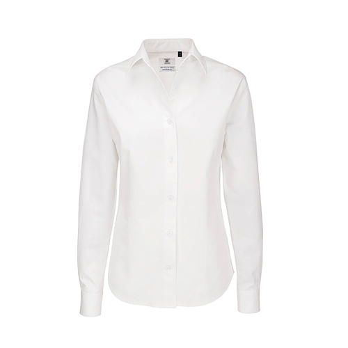 Twill Shirt Sharp Long Sleeve / Women [XXL (44)] (white) (Art.-Nr. CA052523)