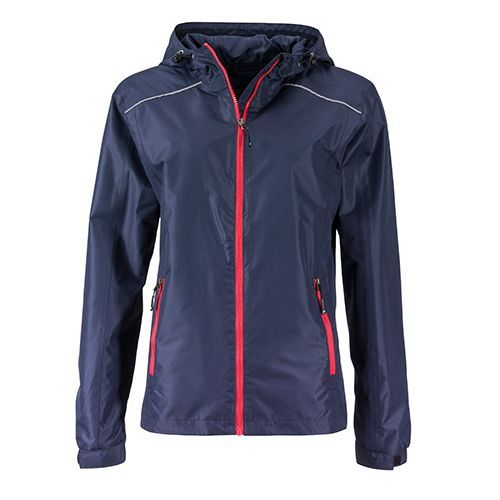 Ladies` Rain Jacket [S] (navy / red) (Art.-Nr. CA055990)