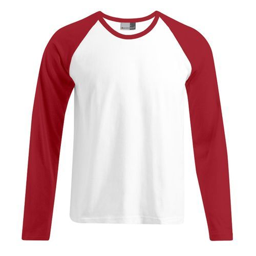 Men`s Baseball-T Longsleeve [XL] (White) (Art.-Nr. CA056739)