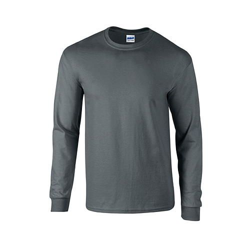Ultra Cotton™ Long Sleeve T- Shirt [S] (Charcoal (Solid)) (Art.-Nr. CA056978)