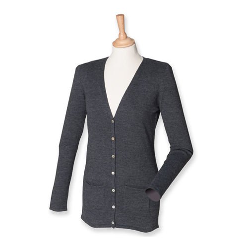 Ladies` Lightweight V-Neck Cardigan [XXL] (grey Marl) (Art.-Nr. CA057292)