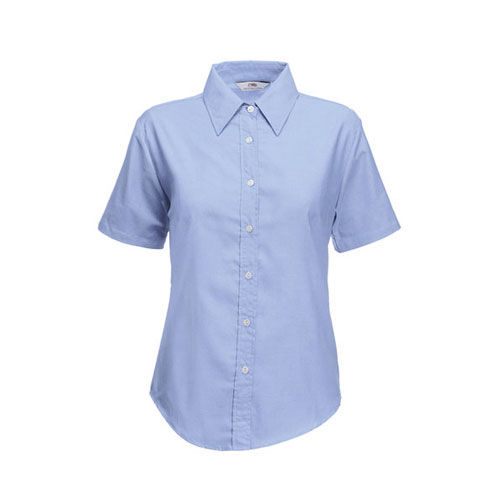 Ladies Short Sleeve Oxford Shirt [M] (Oxford Blue) (Art.-Nr. CA057320)