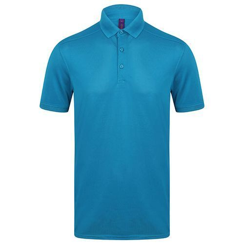 Men´s Slim Fit Stretch Polo Shirt + Wicking Finish [M] (Sapphire Blue) (Art.-Nr. CA057847)