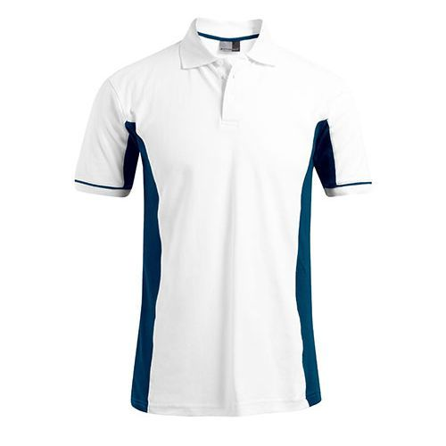 Men`s Function Contrast Polo [XL] (White) (Art.-Nr. CA058582)
