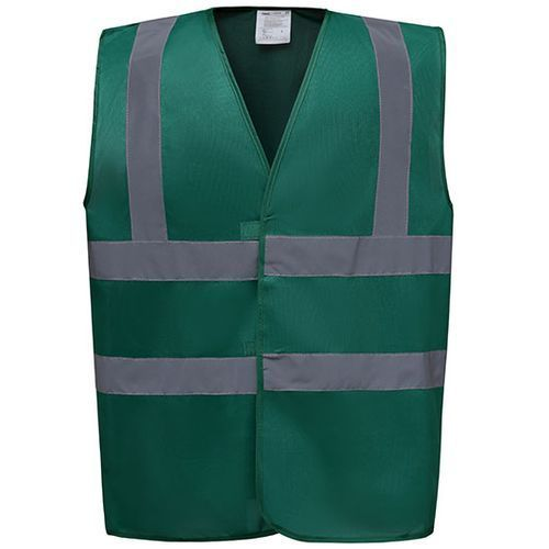 High Visibility 2 Bands & Braces Waistcoat [XXL] (Paramedic Green) (Art.-Nr. CA058882)