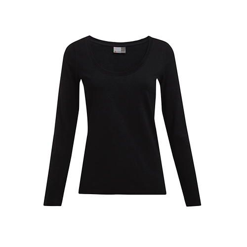 Women`s Slim Fit-T Longsleeve [S] (Black) (Art.-Nr. CA058895)