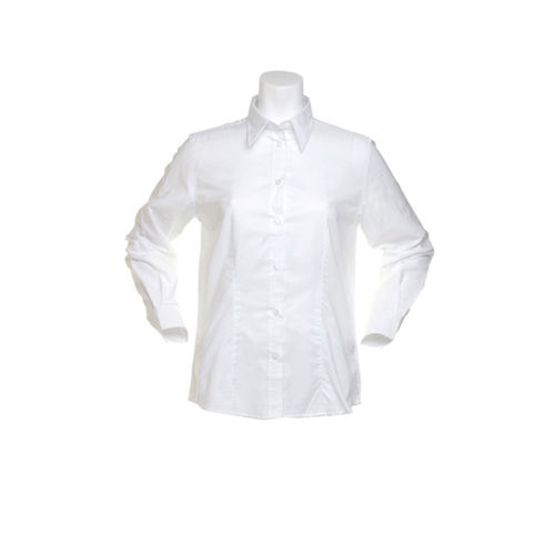 Women`s Tailored Fit Workwear Oxford Shirt Long Sleeve [38 (M/12)] (white) (Art.-Nr. CA060211)
