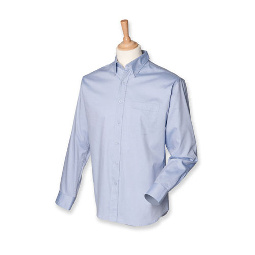 Men`s Long Sleeved Pinpoint Oxford Shirt [S] (light blue) (Art.-Nr. CA060256)
