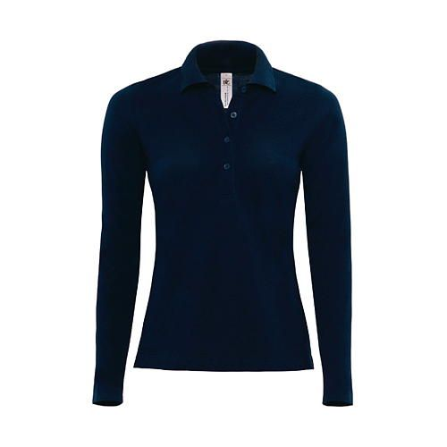 Polo Safran Pure Longsleeve / Women [L] (navy) (Art.-Nr. CA060628)