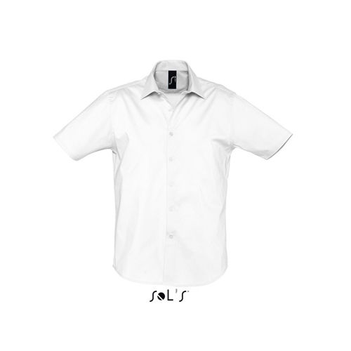 Men`s Stretch-Shirt Broadway Shortsleeve [L] (white) (Art.-Nr. CA060870)