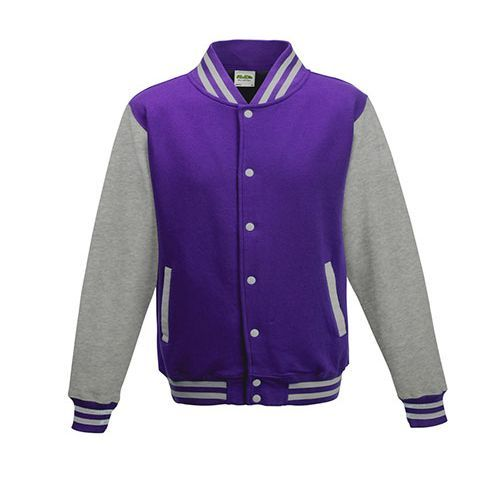 Kids` Varsity Jacket [5/6 (S)] (Purple) (Art.-Nr. CA061129)
