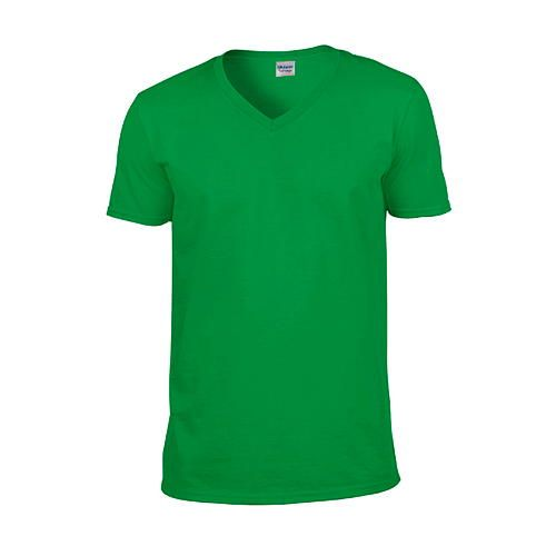 Softstyle® V-Neck T-Shirt [L] (Irish green) (Art.-Nr. CA061144)