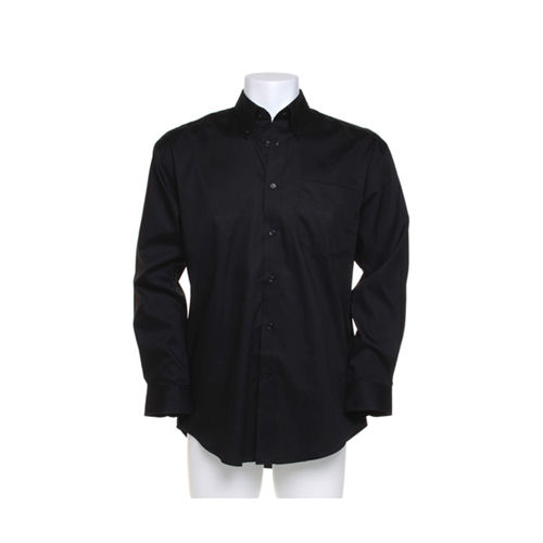 Men`s Classic FitCorporate Oxford Shirt Long Sleeve [41 (16)] (black) (Art.-Nr. CA061231)