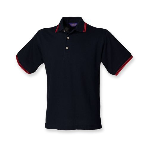 Double Tipped Piqué Polo Shirt [S] (navy) (Art.-Nr. CA061455)
