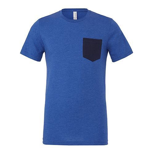 Men`s Jersey Short Sleeve Pocket Tee [M] (heather True Royal) (Art.-Nr. CA061513)