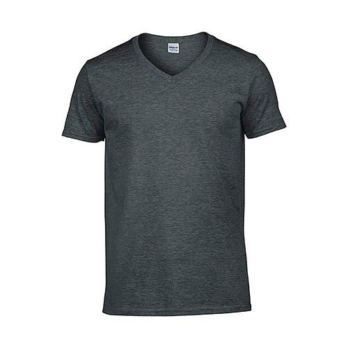 Softstyle® V-Neck T-Shirt [S] (dark heather) (Art.-Nr. CA061588)