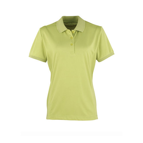 Women`s Coolchecker Piqué Polo [XL] (lime (ca. Pantone 382)) (Art.-Nr. CA061810)