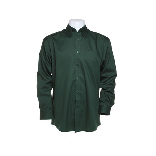 Men`s Classic FitCorporate Oxford Shirt Long Sleeve [49/50 (3XL/19H)] (bottle green) (Art.-Nr. CA061884)