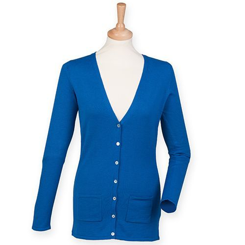 Ladies` Lightweight V-Neck Cardigan [XS] (royal) (Art.-Nr. CA062349)