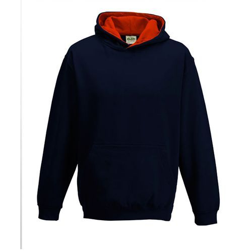 Kid´s Varsity Hoodie [3/4 (XS)] (New french navy / Fire red) (Art.-Nr. CA062654)