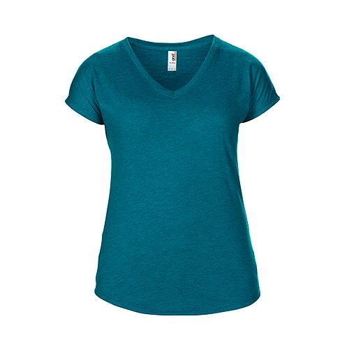 Womens Tri-Blend V-Neck Tee [M] (heather Galapagos blue) (Art.-Nr. CA062731)