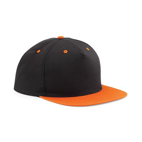 5 Panel Contrast Snapback [One Size] (black / orange) (Art.-Nr. CA062797)