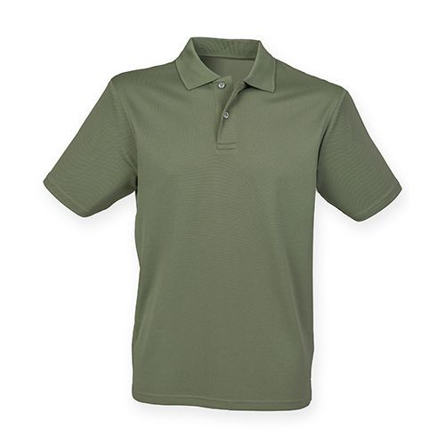 Men`s Coolplus Wicking Polo Shirt [XS] (olive) (Art.-Nr. CA063126)