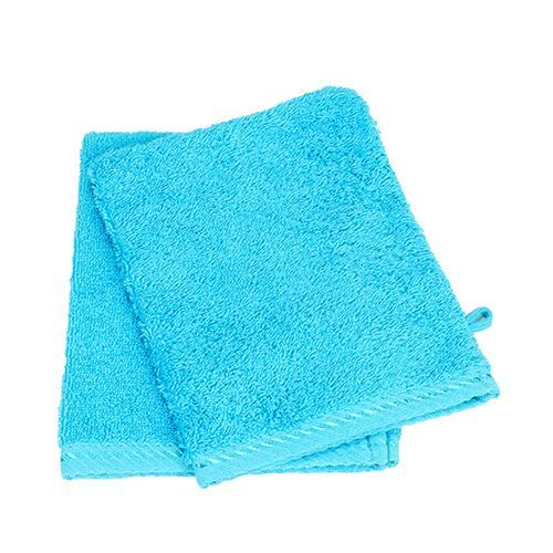 Washcloth [16 x 22 cm] (aqua blue) (Art.-Nr. CA063386)