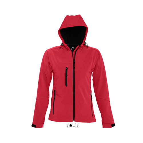 Women`s Hooded Softshell Jacket Replay [L] (Pepper Red) (Art.-Nr. CA064892)