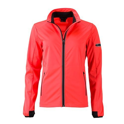 Ladies` Sports Softshell Jacket [L] (bright orange / black) (Art.-Nr. CA066393)