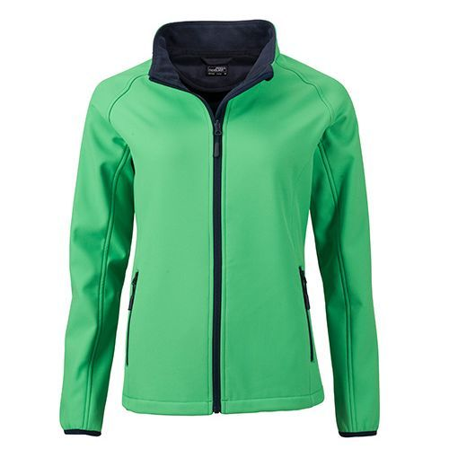 Ladies` Promo Softshell Jacket [S] (Art.-Nr. CA066757) - Angenehmes, weiches 2-lagiges Softshell-...