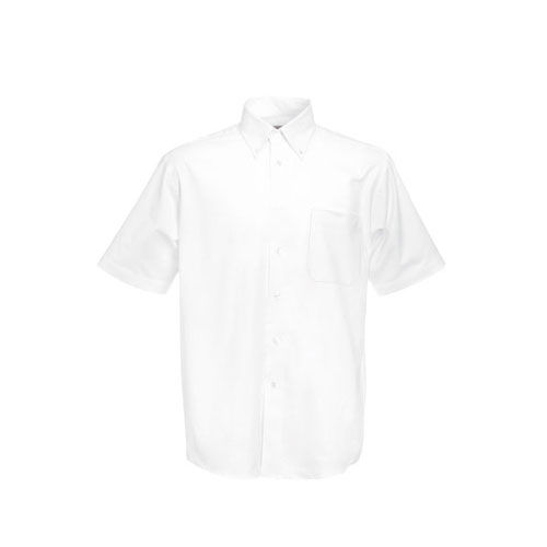 Men`s Short Sleeve Oxford Shirt [L] (white) (Art.-Nr. CA066818)